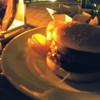Terrace BA - 料理写真:ハンバーガー&カールスバーグ