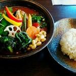 Soup Curry SAMURAI. - チキンと20品目の野菜♡ご飯は通常サイズ!
