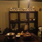 chinese cafe 茶林香 - 店内にて茶葉も販売しています。