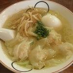 らーめん 三福 - 海老ワンタン麺 細麺選択!