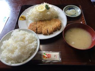 龍晃麺 - とんかつ定食 大盛