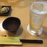 36232032 - 辛味大根のスープ&梅酒ソーダ