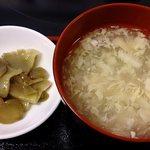 好味苑 - 好味苑 @本蓮沼 ライスセットの溶き玉子スープと搾菜