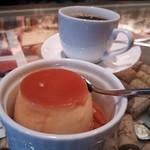 36237986 - ランチのデザートとコーヒー