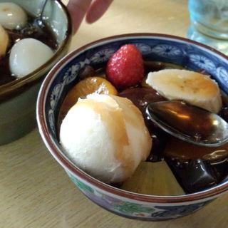 三芳 - 料理写真:クリームあんみつ