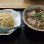ラーメン 山笠 - 料理写真:ハンチャンセット