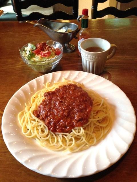 イタリアン ピザ レストラン トスカーナ - H27.3 ランチスパゲティ・ミートソース(通常サイズ)
