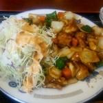 36246749 - 鶏肉と野菜の辛味炒め アップ