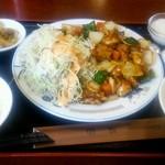 36246750 - 鶏肉と野菜の辛味炒め定食