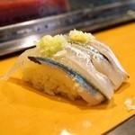 栄寿司 - 2015.3 さより(1貫110円)