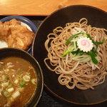 鳴門 - つけ麺(並盛)800円(から揚げ付き)