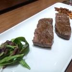 鉄板ラウンジ 旬 - サーロインステーキ
