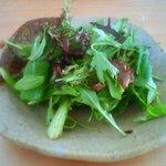 四季彩茶屋 葉菜  - ローフードについているサラダです。