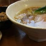 中華そば うえまち - 中華そば塩+黒豚炊き込みご飯小