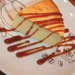 ブックカフェ エスプレッシーボ - チーズケーキ