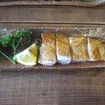和さ田 - セットの三瀬鳥の地鶏ステーキ・・・・・塩と柚子胡椒で頂きました。