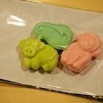 和菓子 isshin - 干菓子は動物の形