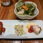 ITALIAN QUATRO - ランチ前菜とサラダ
