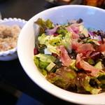 FAB - サラダと玄米ご飯。