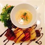 イル ジーリョ - 料理写真:スープ サラダ お肉