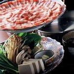 郷土料理おいどん - 料理写真:当店自慢「六白黒豚しゃぶしゃぶ」特選和風三段仕込しゃぶ出汁がヤミツキに♪