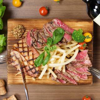 『肉GRILL』美味しいとこをチョッとずつ!黒毛和牛ステーキ