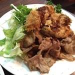 デリス - Mar, 2015 日替わりカキフライ豚バラの焼肉