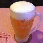 シオヤダイナー - 生ビール(500円)