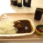 東京家庭裁判所内食堂 - ハヤシライスセット(アイスコーヒー付き)