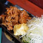 琉球麺 茉家 - 福幸豚の中落ち