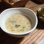 花菜おに工房 - ランチセットのスープ