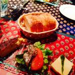 ア ラ メゾン ジャンポール - ガレットコースの前菜3種