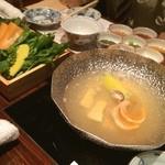 濱の季 - 魚しゃぶは野菜とともにこれでしゃぶしゃぶ‼️