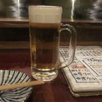肴や だんじ - ビールで乾杯