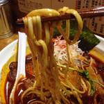 ら~めん ひの木 - カプサイシン辛味ら〜めんの麺はこんな感じです!