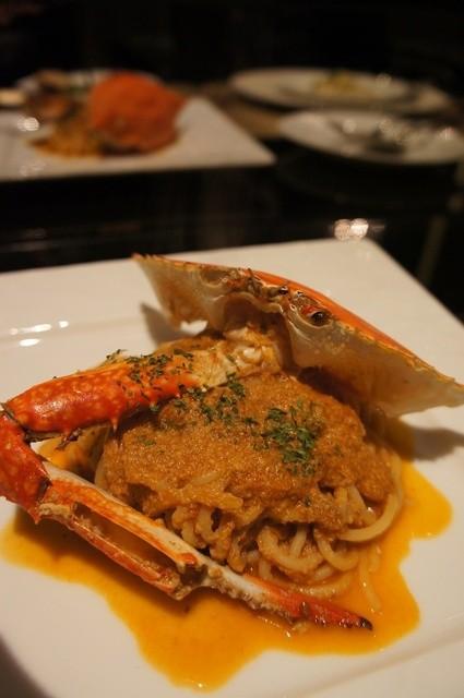 RISTORANTE Baci - 渡り蟹のスパゲッティ 1800円
