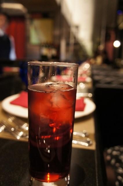 RISTORANTE Baci - 食べログクーポンで頂いたカシスソーダ