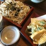 権太呂 金閣寺店 - 天ざる(季節の野菜に変更)