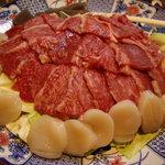 363615 - 大皿に盛られたじゅらくコースの料理(4人前)