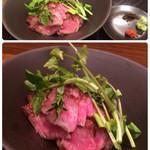 旬菜料理 山灯  - 2500円のコースから和牛の炙り+1700円位?