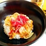 ガーデンテラス - 「豚しょうが焼き風丼ビールセット」¥1,234