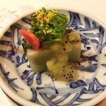 3631683 - 先付(春子鯛菜種 華弁野菜 青菜酢)