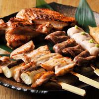 旬彩 神楽 - 神楽自慢の品!炭火焼鳥串を食べてみて下さい!