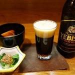 おお田 - (2015/2月)お通し(540円)と小瓶のビール(648円)