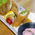 まんざら - 太刀魚と春野菜の巻き巻きカツ