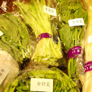 中国から仕入れている野菜!