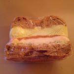 36318233 - アボカドクリームチーズスモークサーモンベーグルサンド(324円)