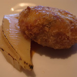 鉄板焼 RURI - 白身魚のコロッケと竹の子です