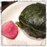 花膳 - 青菜おにぎり