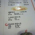 うま馬 - 実は私の高校時代の同級生の店で今回は1500円のコースを注文。